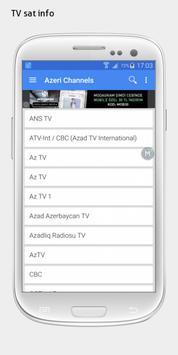 Azerbaijan TV sat info apk screenshot