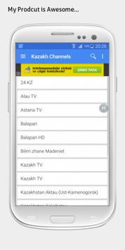 Kazakhstan TV sat info apk screenshot