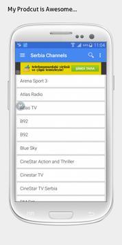 Serbia TV sat info apk screenshot