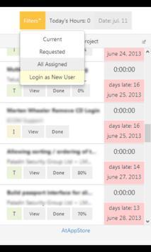 Stopwatch for AtTask apk screenshot