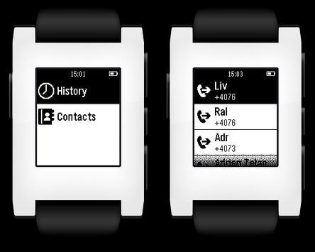 Pebble-Dialer apk screenshot