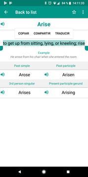 Irregular Verbs screenshot 3