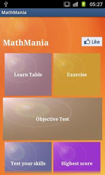 MathMania poster
