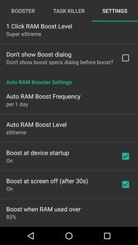 RAM Booster eXtreme Speed Free captura de pantalla de la apk