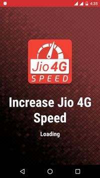 Increase Jio 4G Speed Booster poster