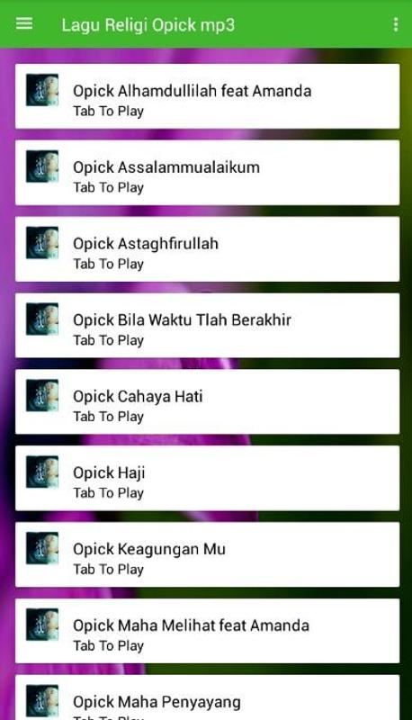 Download Lagu Opick Download Lengkap