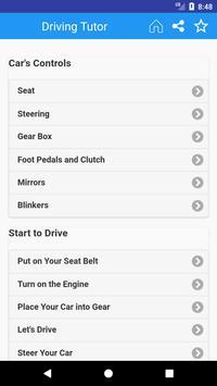 Driving Tutor App Free poster