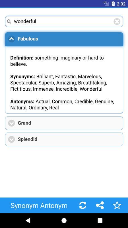 Synonym Antonym Screenshot 3