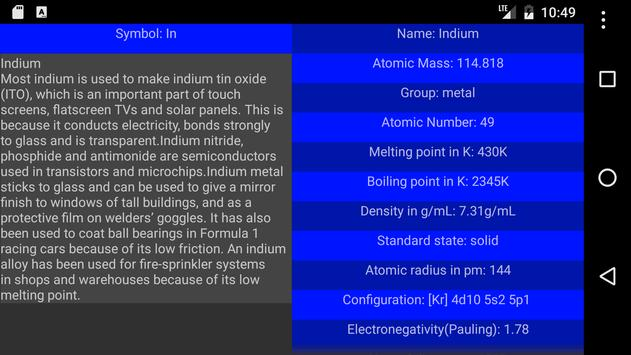 Periodic table of elements apk download free education app for periodic table of elements apk screenshot urtaz Gallery