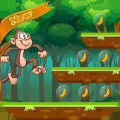 Jungle monkey run icon