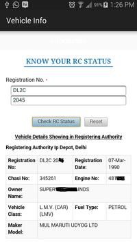 RTO Vehicle Information India screenshot 5