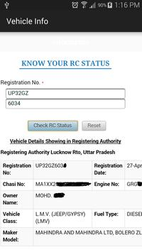 RTO Vehicle Information India screenshot 3