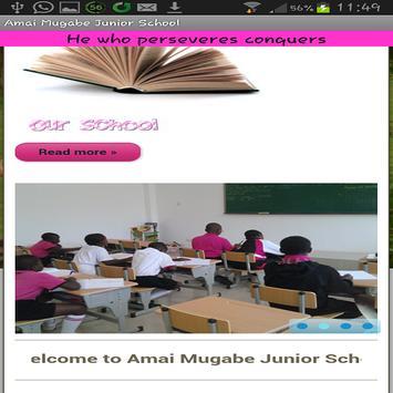 Amai Mugabe Junior School poster