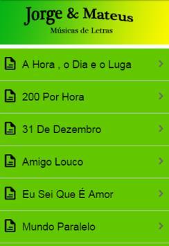 Jorge & Mateus Letras screenshot 2