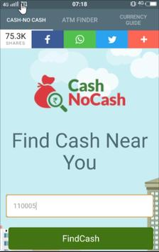 Mera ATM finder Cash / No Cash poster