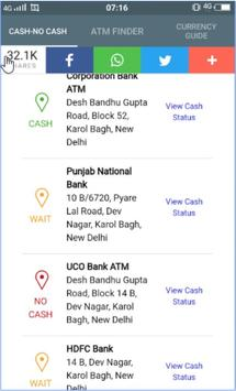 Mera ATM finder Cash / No Cash screenshot 1