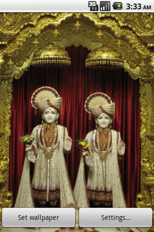 Swaminarayan Live Wallpaper Poster Apk Screenshot