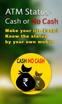 ATM Status Cash or No Cash poster
