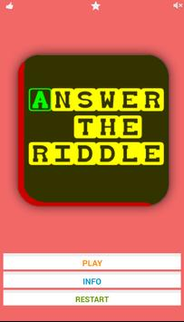 Answer the Riddle poster