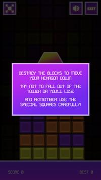 HexaFall captura de pantalla 1