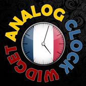 France Flag HD Clock Widget icon