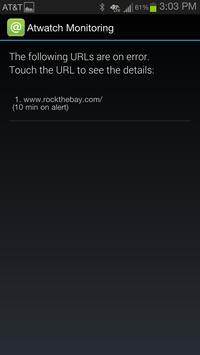 Atwatch Website Monitoring APP screenshot 1