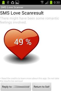 SMS Love Scanner apk screenshot