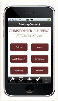 Attorney Christopher Heberg apk screenshot