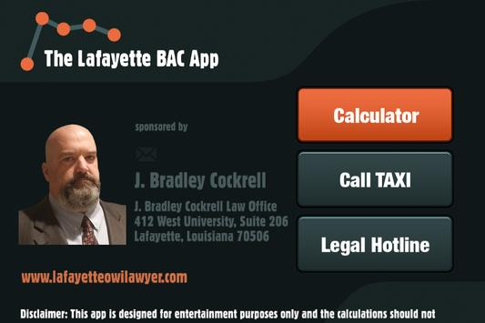 The Lafayette BAC App poster