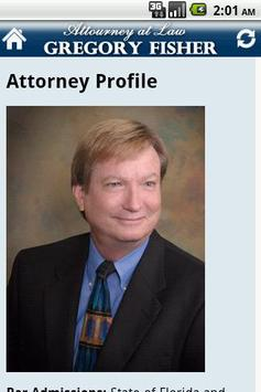 Attorney Gregory H. Fisher PA screenshot 1