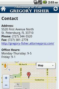 Attorney Gregory H. Fisher PA screenshot 2