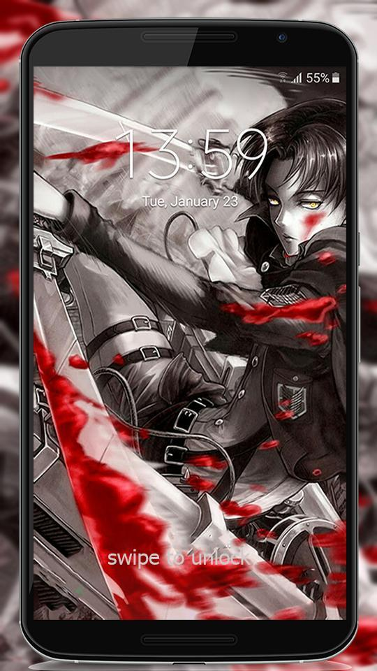 Attack Anime On Titan Lock Screen For Android Apk Download