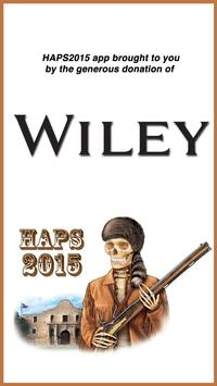 HAPS 2015 poster