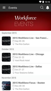 Workforce events apk screenshot