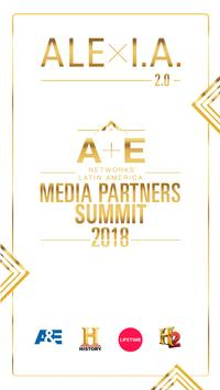 A+E Media Partner Summit 2018 poster