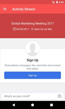 Global Marketing Meeting poster