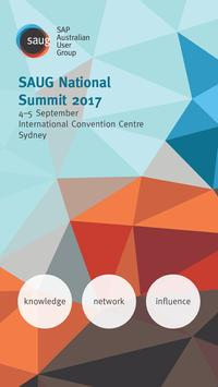 SAUG National Summit 2017 poster