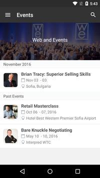 Web and Events apk screenshot