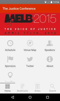The Justice Conference poster