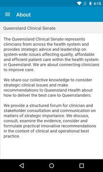 Queensland Clinical Senate screenshot 2