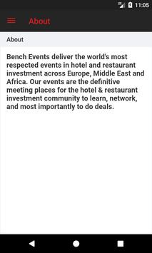 Bench Global Business Events poster