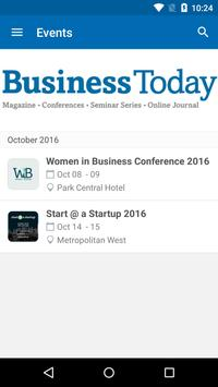 Business Today Conferences '16 poster