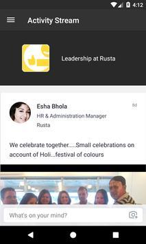 Leadership at Rusta poster