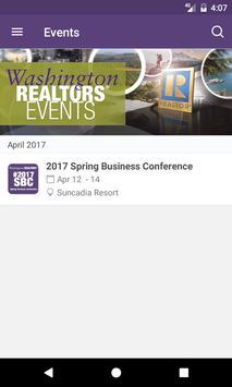 Washington REALTORS® Events apk screenshot
