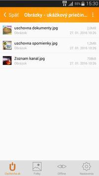 Úschovňa screenshot 2