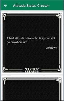 Attitude Status Creator screenshot 1