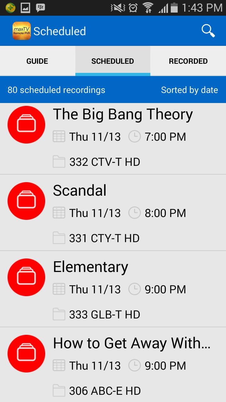 maxTV Remote PVR for Android - APK Download