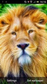 Sparkling lion live wallpaper poster
