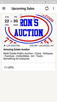 Rons Auction poster