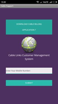 Cablelinks - Cable Customer Support Application poster
